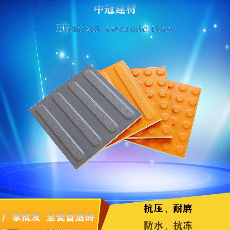 標準盲道提示磚/瓷質盲道磚 安徽20厚黑色全瓷盲道磚**6