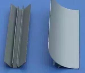 铝合金型材价格_内圆弧 内圆角 含塑料底条铝合金型材 底座阴角净化铝型材