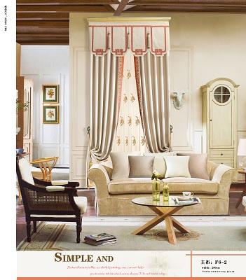 飞羽现代简约,绣花拼接高遮光窗帘,可定制窗帘