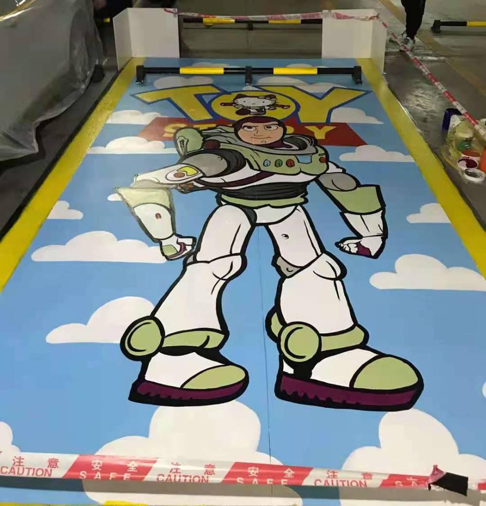 彩绘地面车位涂鸦3D画,尺寸定制图案定制 ,个性化服务